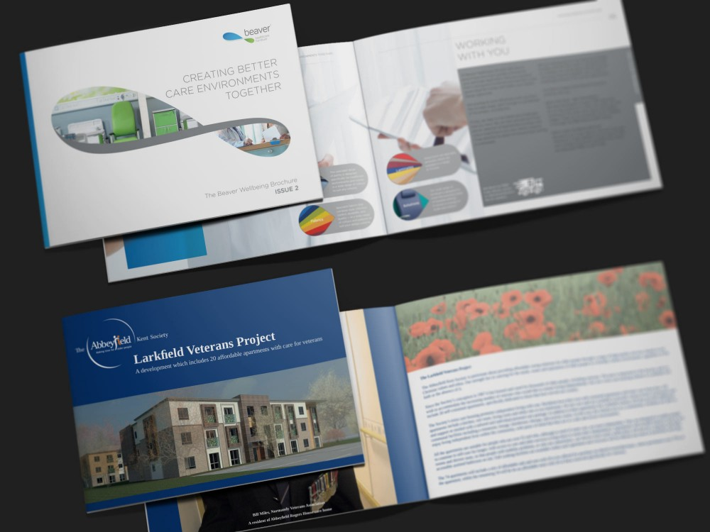 Image of a selection of brochures