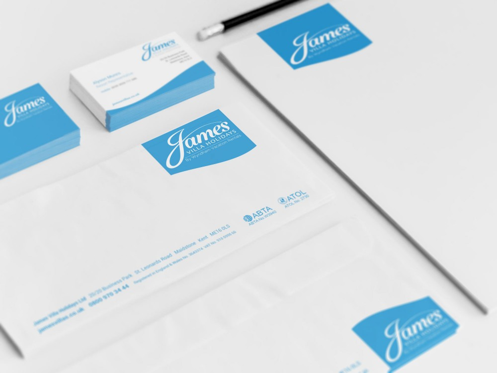 Image of business cards, letterheads and compliment slips