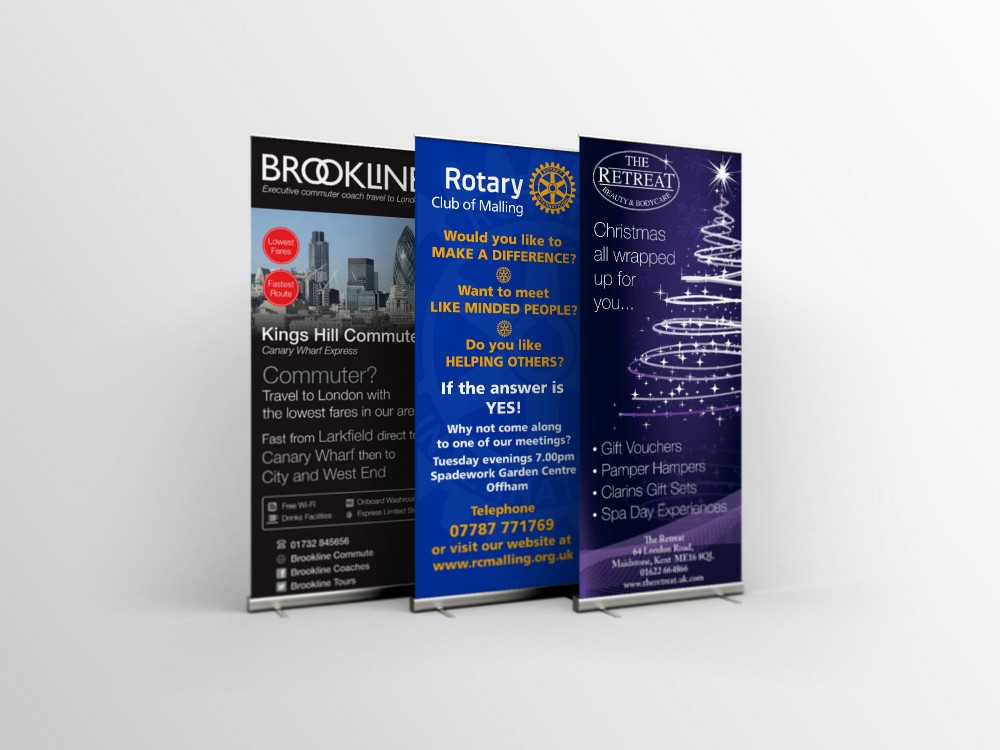 Image of 3 popup banners