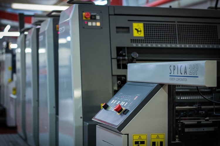 Image of a Komori Spica 26P printer